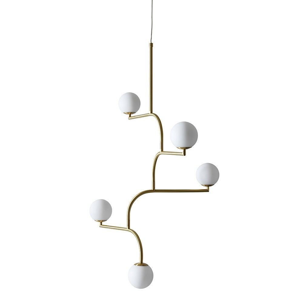 mobil 100 pendant by pholc in brass