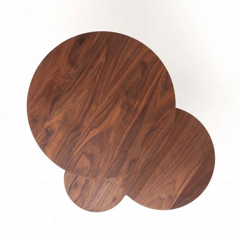 poly side table made with wood by de la espada