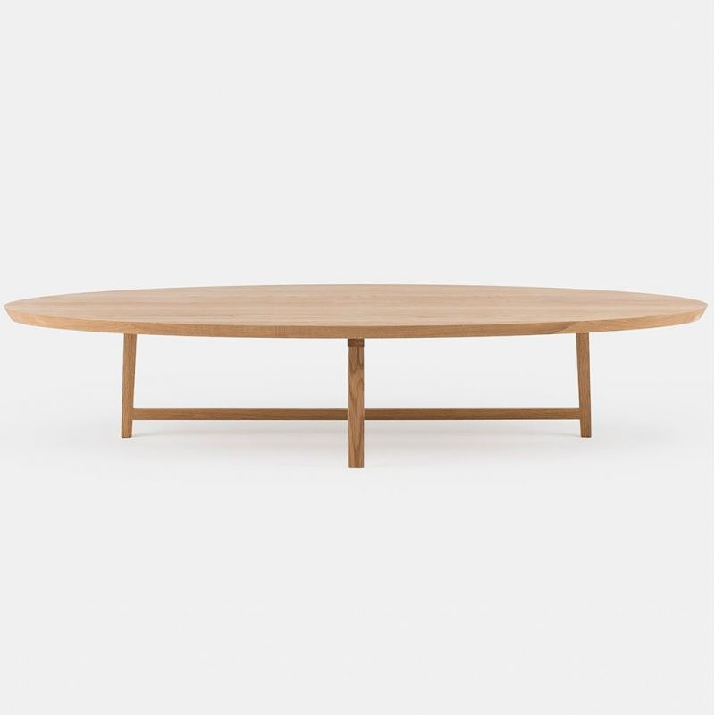 trio oval coffee table by de la Espada