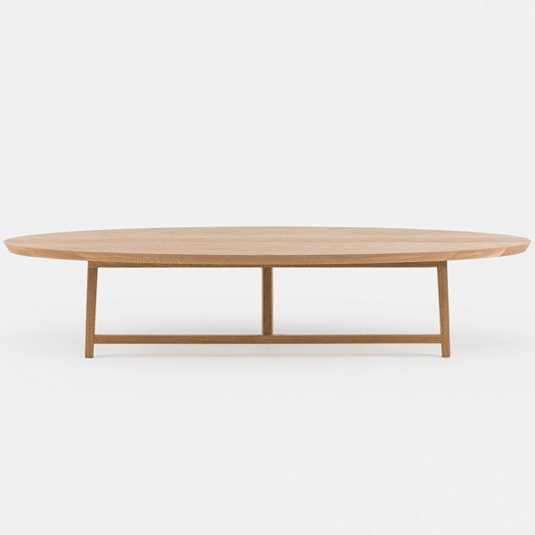 trio oval coffee table styled in an interior by de la espada