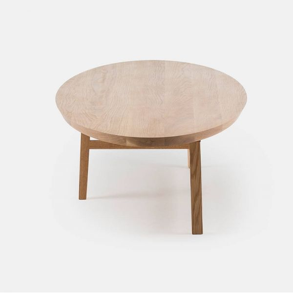 trio oval coffee table seen from an angle by de la Espada