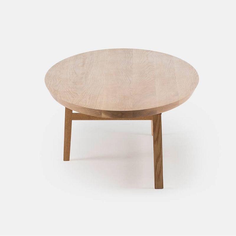 table basse trio ovale vue d'un angle by de la espada