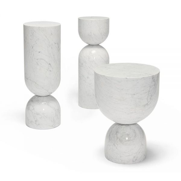 TIME PIECE MARBLE SIDE TABLE by Sé