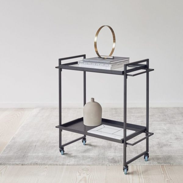 black Bauhaus trolley by Kristina Dam
