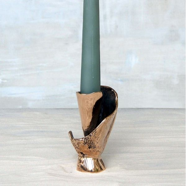 BRONZE CANDLEHOLDER by...