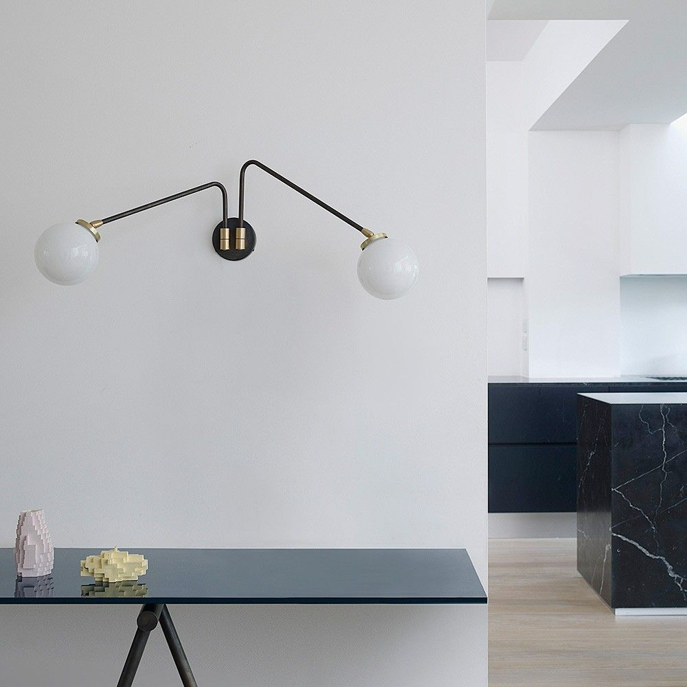 Array Twin wall light CTO Lighting, styled in interior