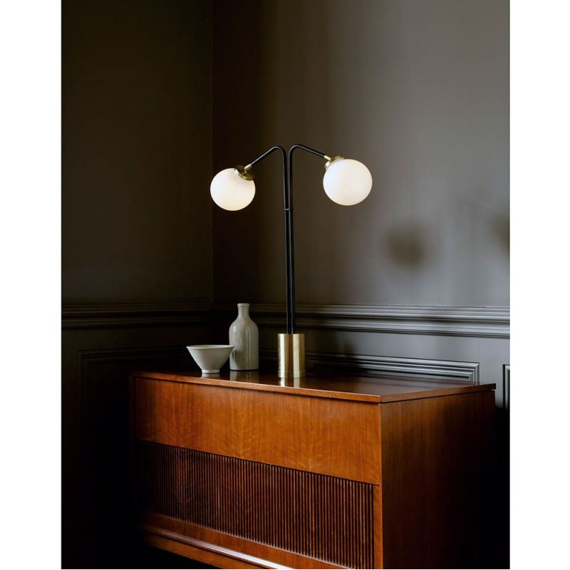 array twin table lamp in an appartment by CTO lightning