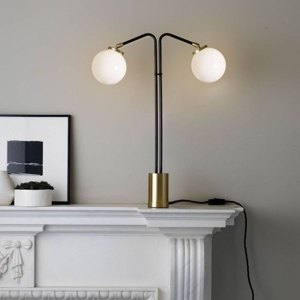 array twin table lamp styled in an interior by CTO lightning