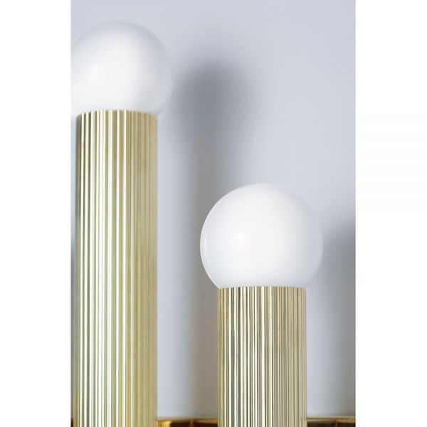 TRIPTYCH WALL LIGHT by CTO Lighting close up gold color