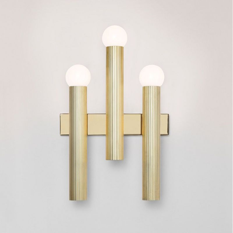 TRIPTYCH WALL LIGHT by CTO Lighting grey background