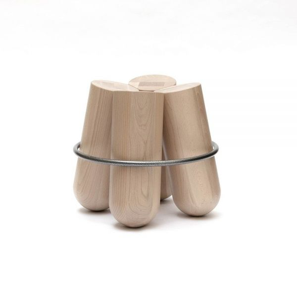 bolt stool white background by la chance