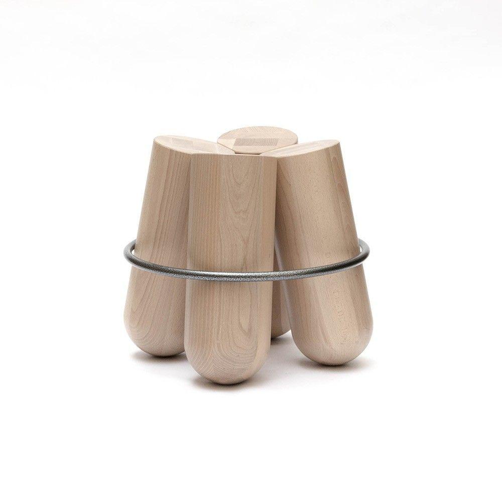 bolt stool white background by la chance