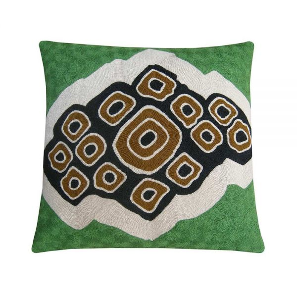 COCO CUSHION GREEN by Lindell & Co