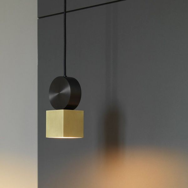 Calée Pendant CVL Luminaires in brass and satin graphite