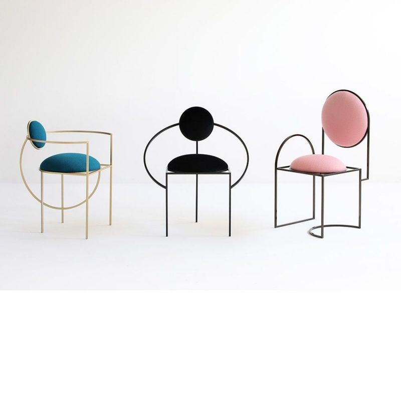 3 lunar chairs by bohinc studio