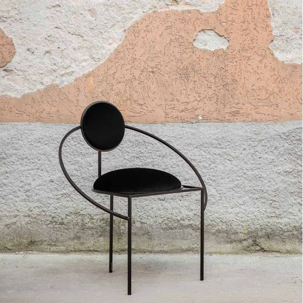 orbit armchair styled in an interior by bohinc studio
