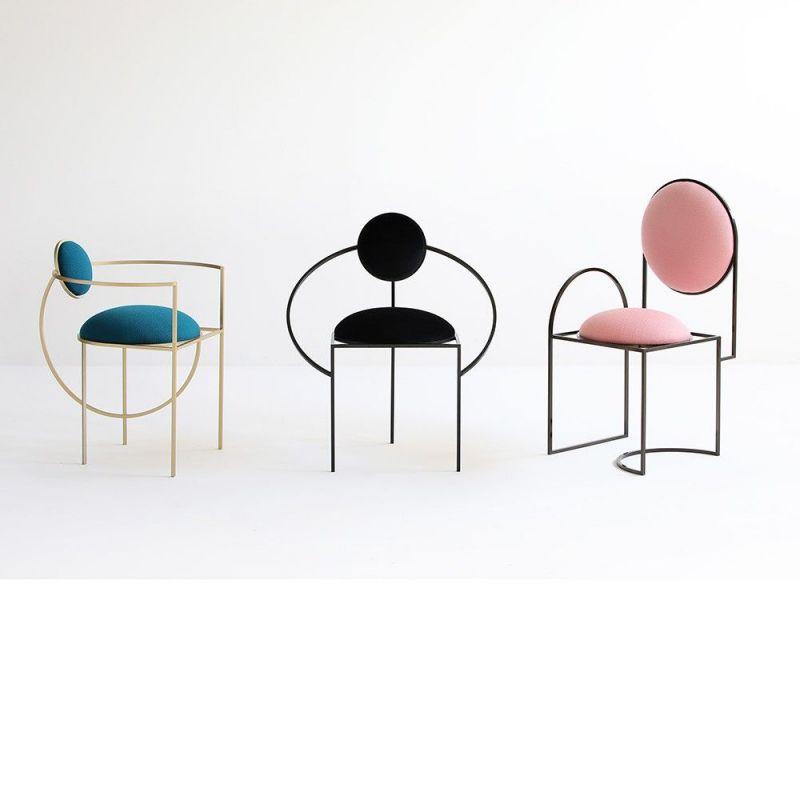 3 orbit armchchairs by bohinc studio