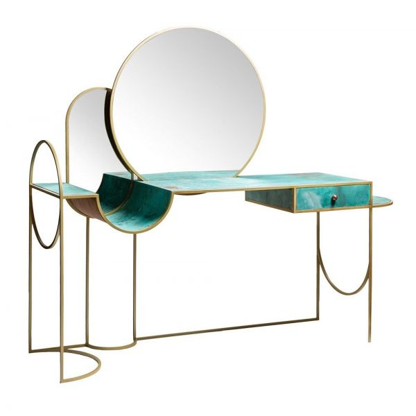 celeste console styled in an interior by bohinc studio