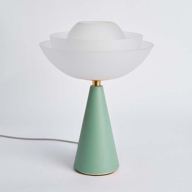 Maison Editions lampe Lotus vert