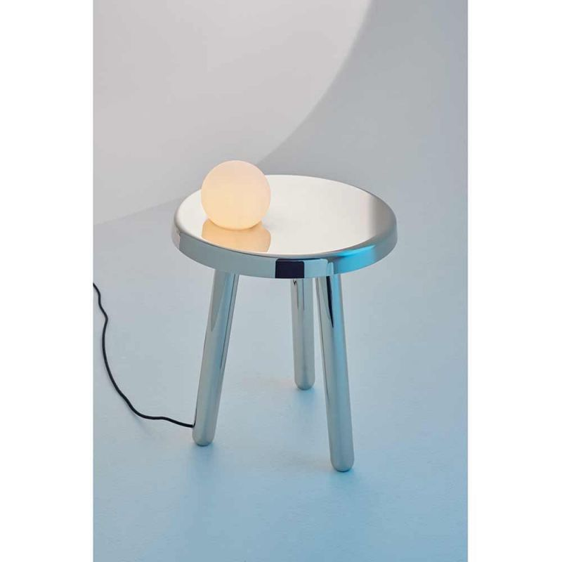 table d'appoint alby fond gris blanc