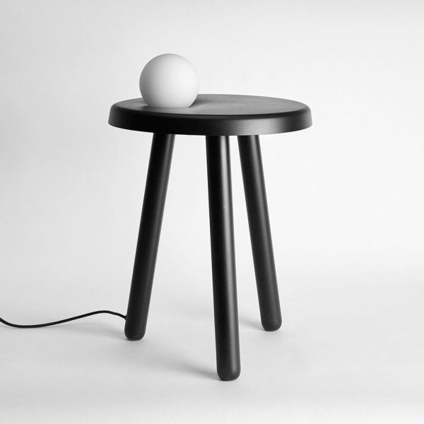 table d'appoint alby noir by mason editions