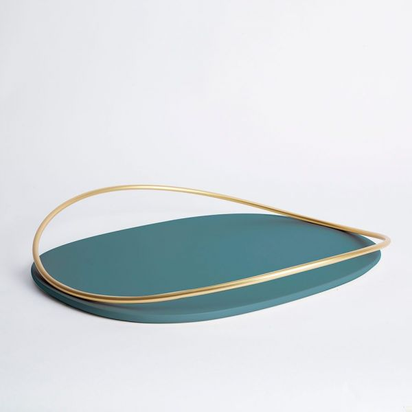 PLATEAU TOUCHE OVALE II by Mason Editions