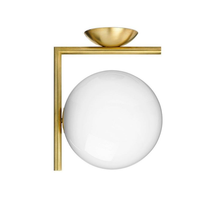gold ic ceiling light by flos