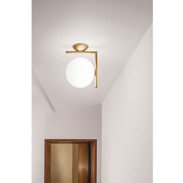 ic ceiling light in a hallway by flos