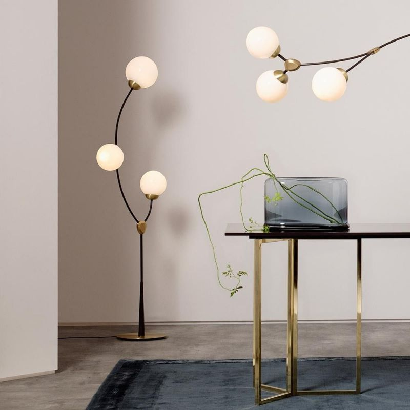 ivy floor light styled in an interior by CTO lightning
