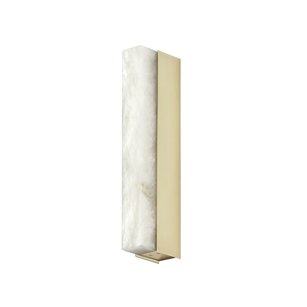 Artes wall light by CTO Lighting in brass and alabaster