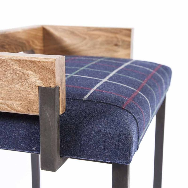 blue arms stool by charlotte besson oberlin