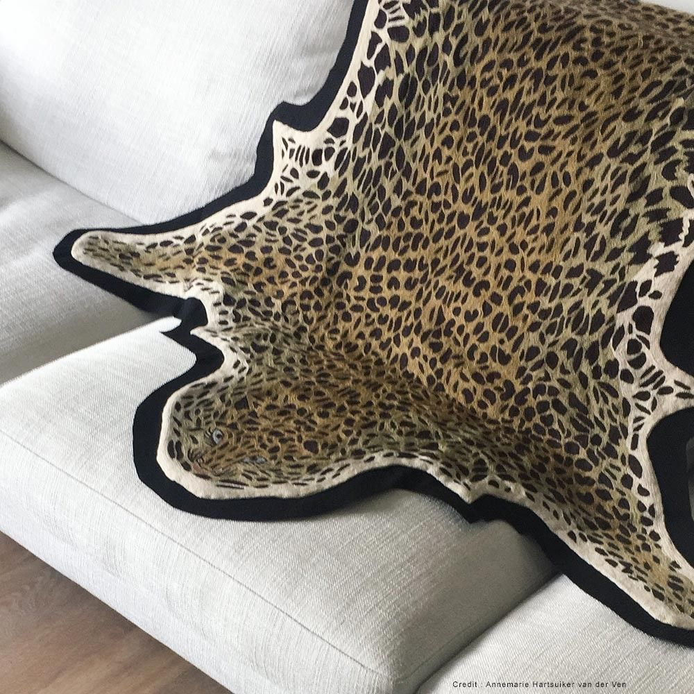 leopard piece on a sofa by lindell & co