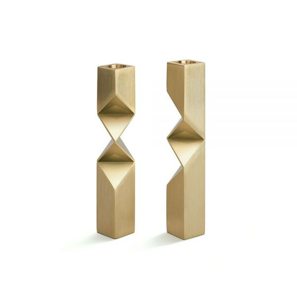 BONNIE AND CLYDE SET OF 2 CANDLEHOLDERS by Laloul