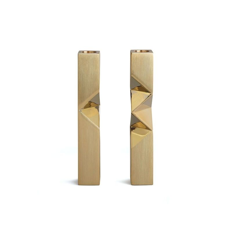 bonnie and Clyde  set of 2 candleholders by laloul brass