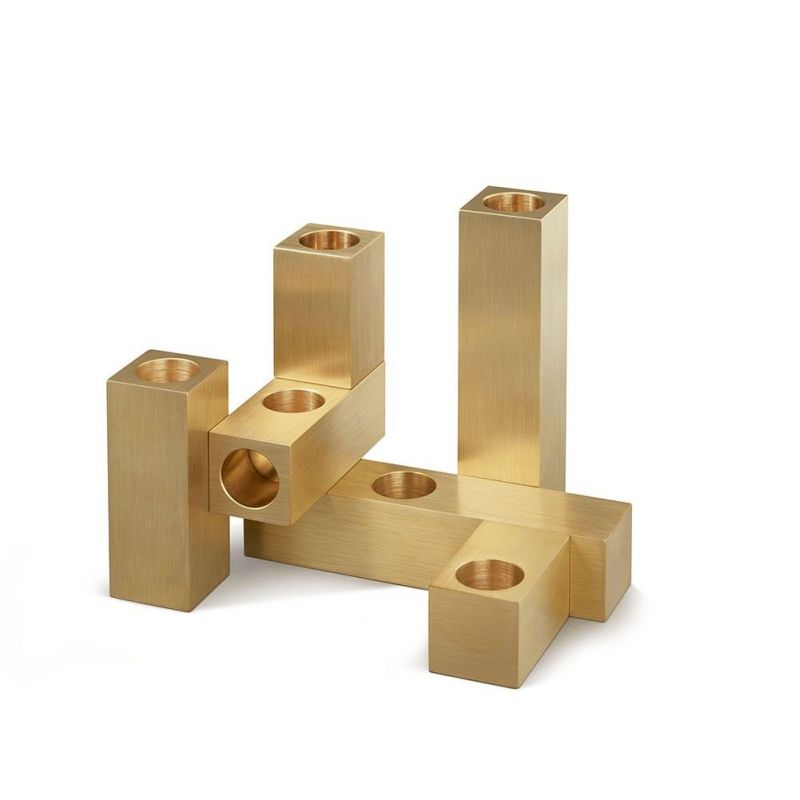 set of 6 domino candleholders by laloul   on white background