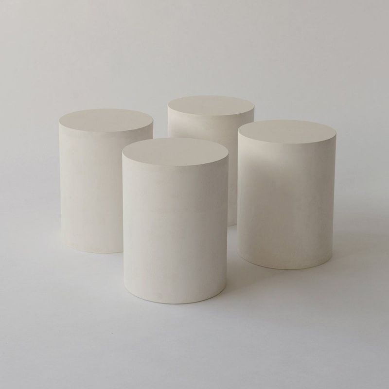 white plinths by malgorzata bany
