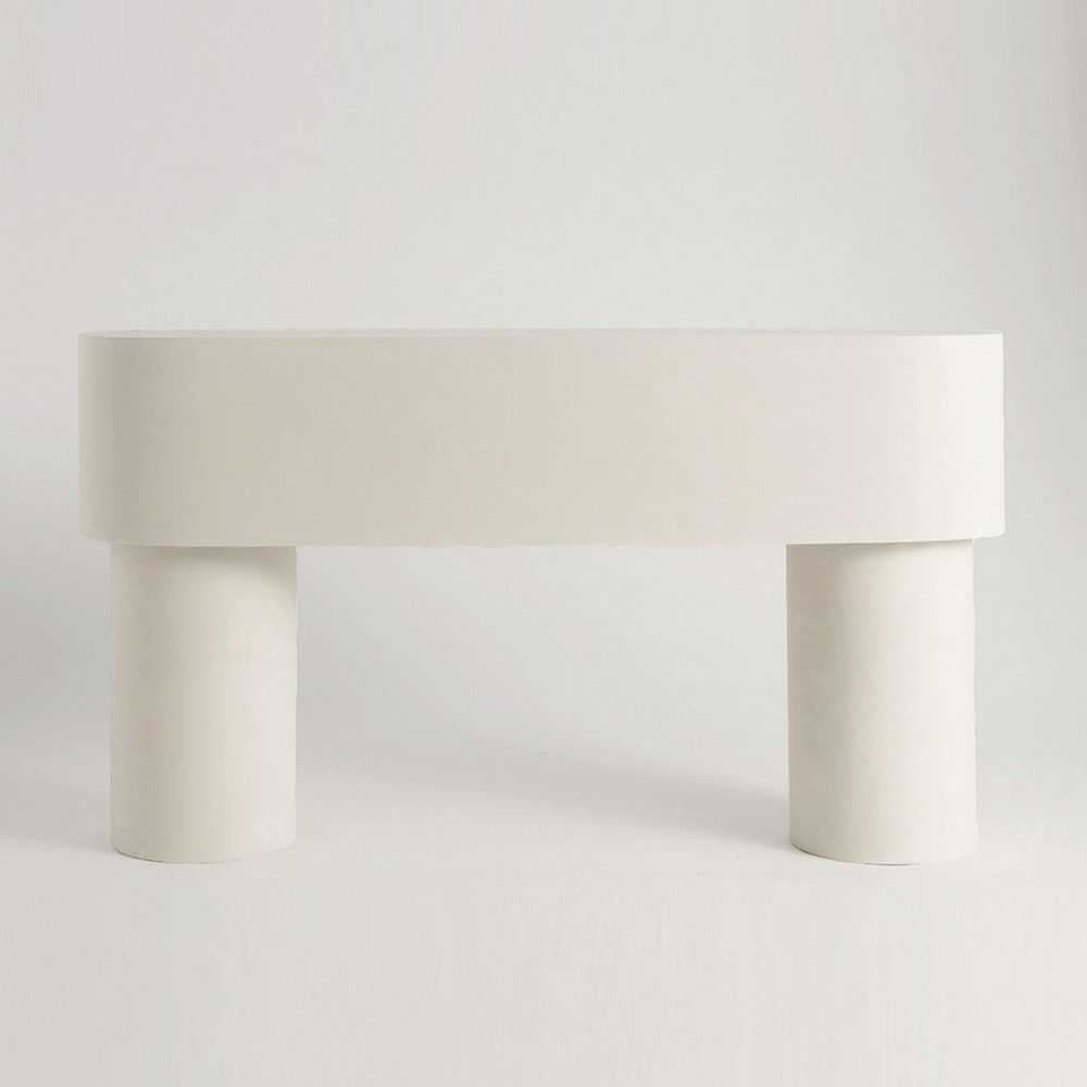 table console pilotis blanc by malgorzata bany