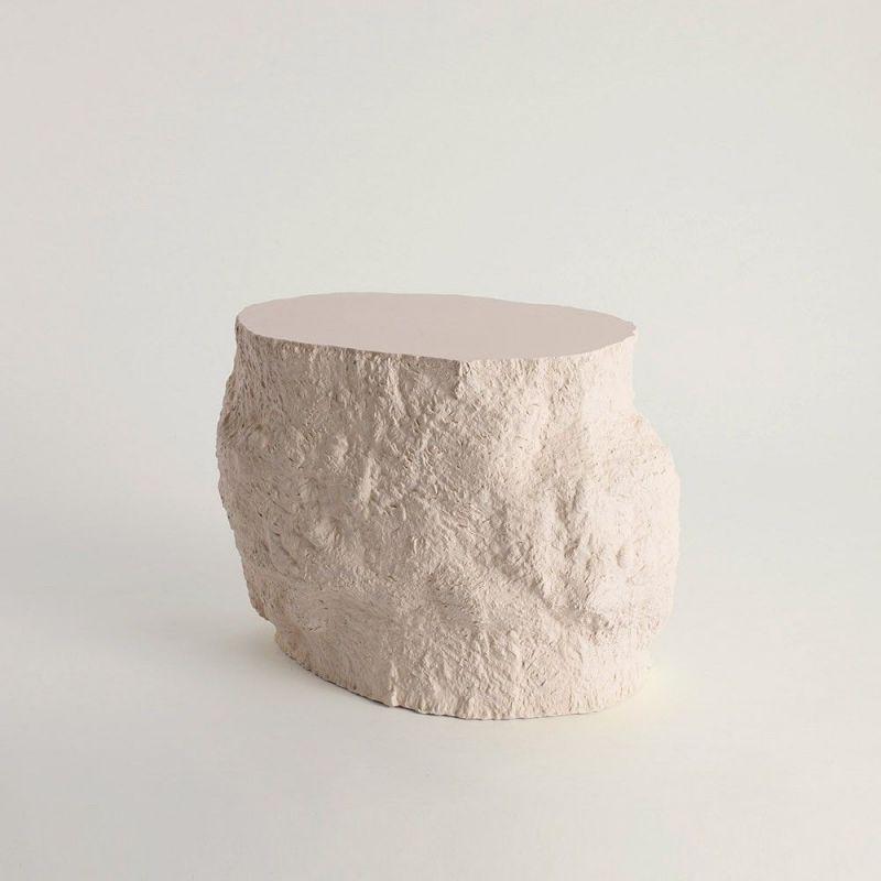 white acacia side table by malgorzata bany