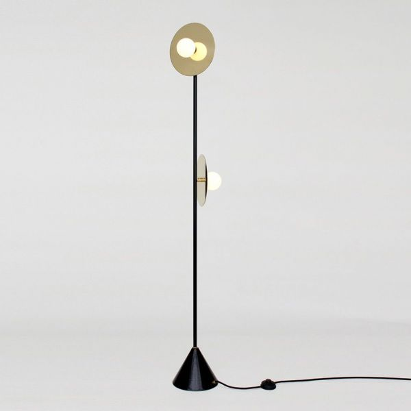 DISC AND SPHERE FLOOR LAMP by Atelier Areti