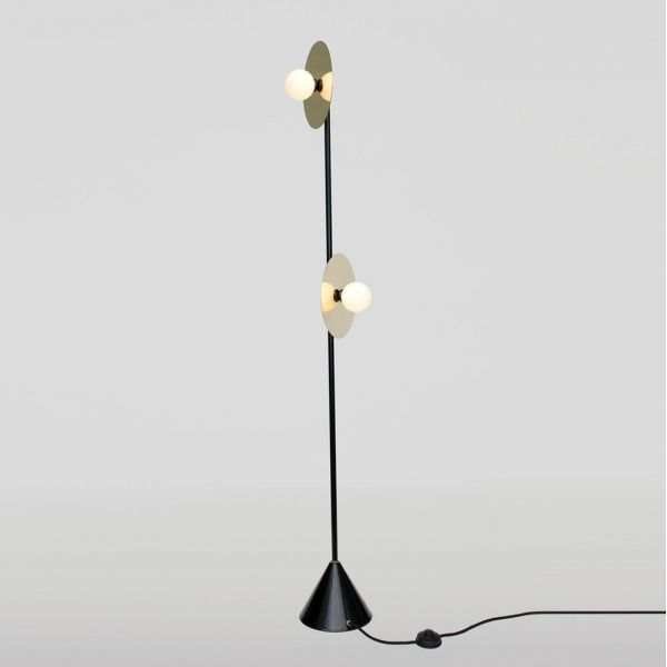 disc and sphere floor lamp white background by areti