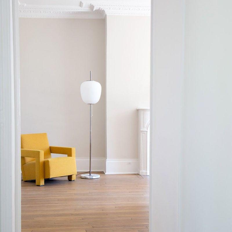 J14 floor light styled in an  interior by disderot