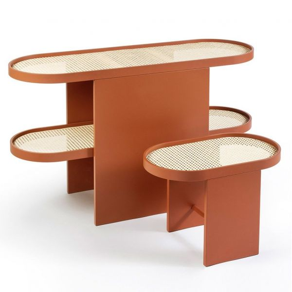 orange piani console table by editions milano