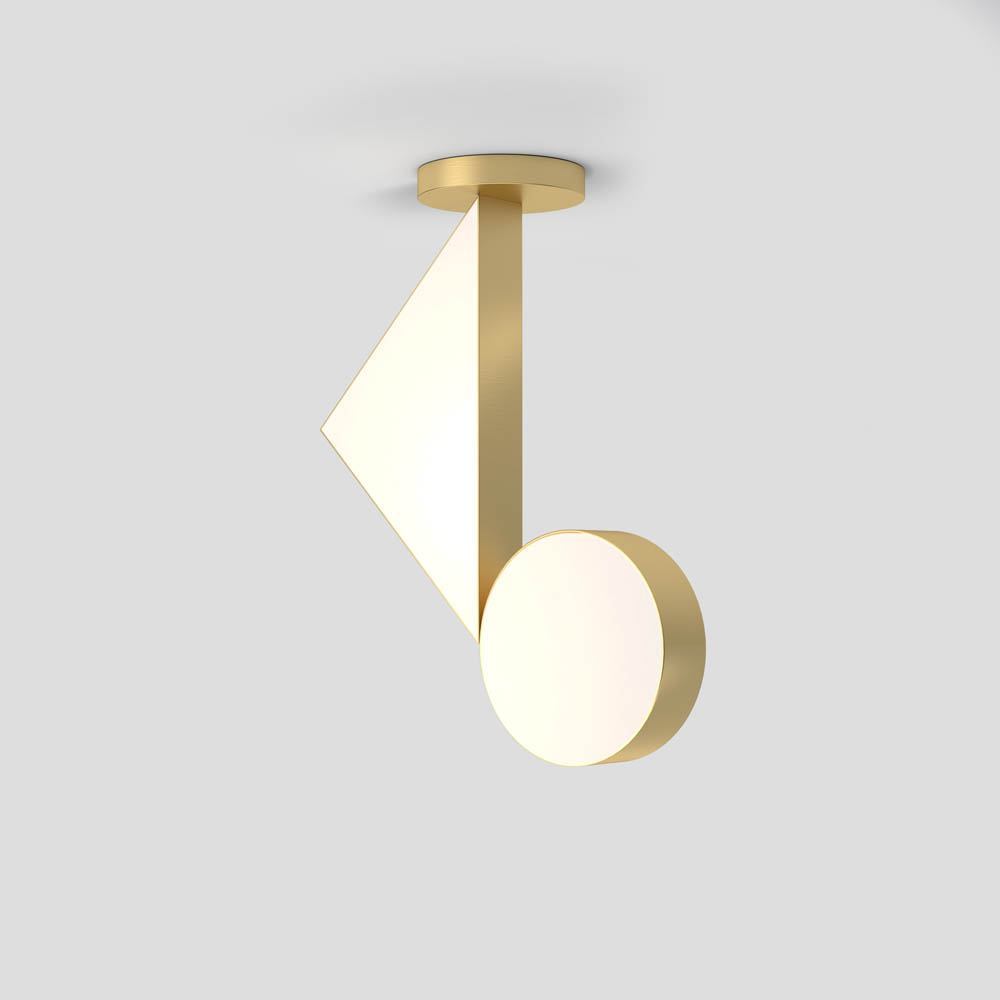 flat shapes ceiling light by atelier areti