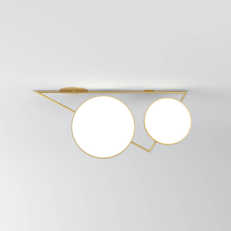 triangle variation ceiling light grey background by atelier  areti