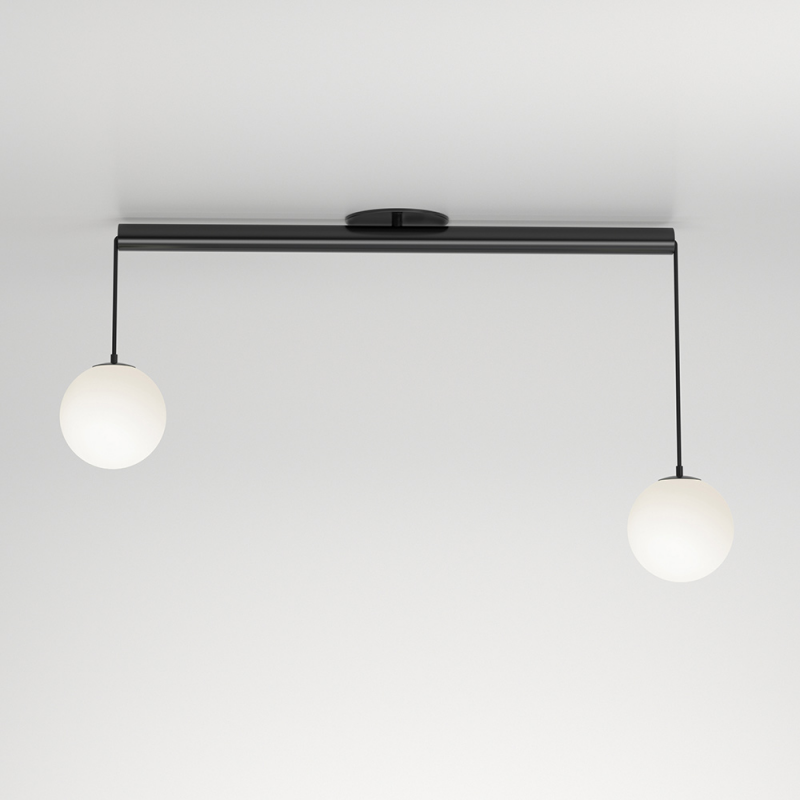 Tube With Globes Ceiling Light Atelier Areti