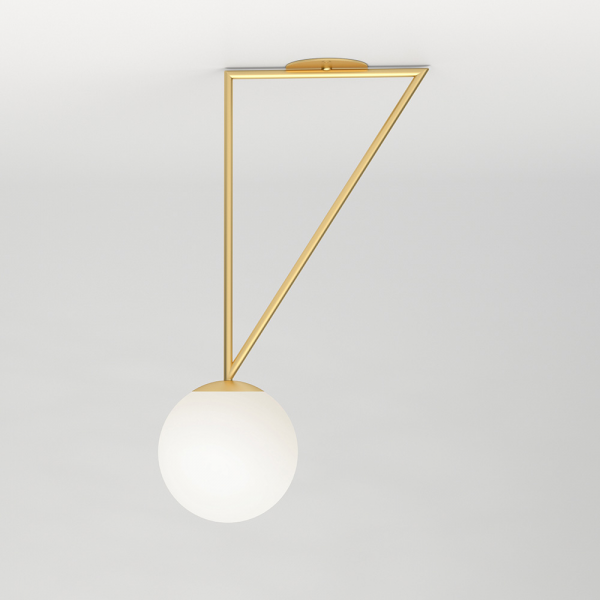 Triangle And Globe Ceiling Light, Atelier Areti