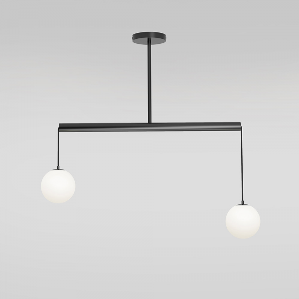 SUSPENSIONS TUBE WITH GLOBES by Atelier Areti fond gris
