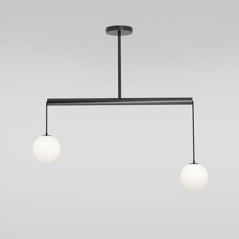 TUBE WITH GLOBES PENDANT by Atelier Areti grey background
