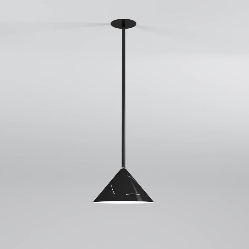 sliver pendant light by atelier areti cone down