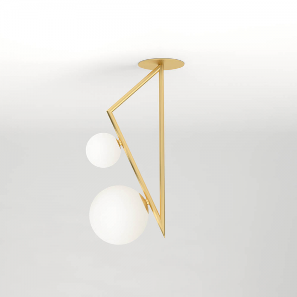 TRIANGLE AND GLOBE CEILING LIGHT 02 by Atelier Areti
